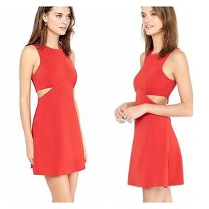 Cut-out fit and flare dress